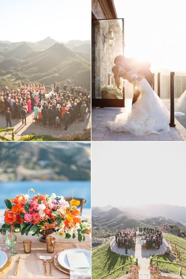 romantic moutian side vineyard wedding in Malibu California
