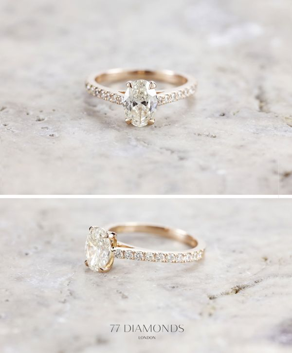 rose gold vintage wedding engagement rings