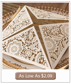 rustic elegance laser cut wedding invitations