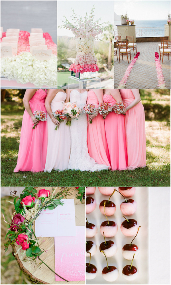 20 charming ombre wedding ideas to love