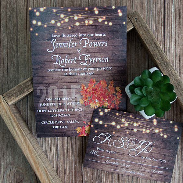 string lights wedding ideas inspired rustic fall wedding invitations