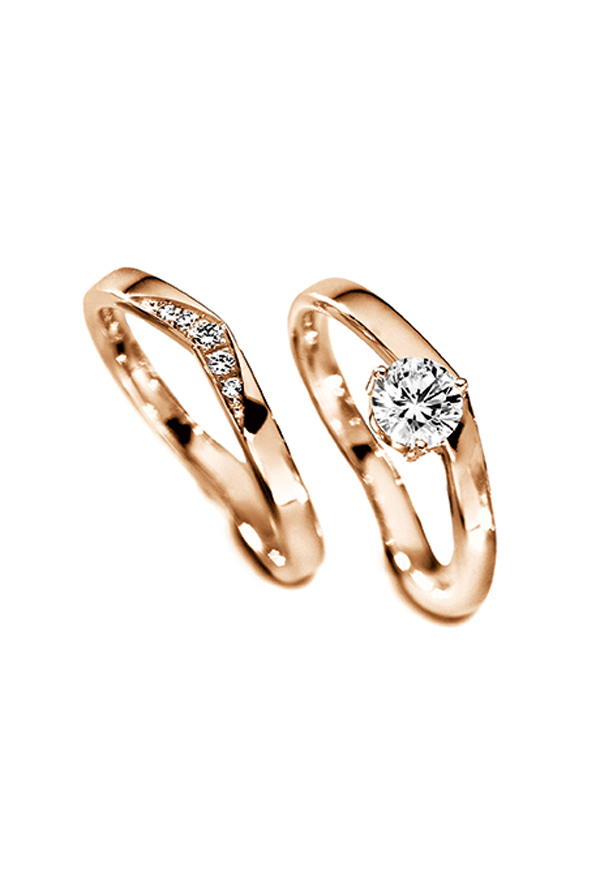 stunning rose gold wedding engagement rings with matching side band