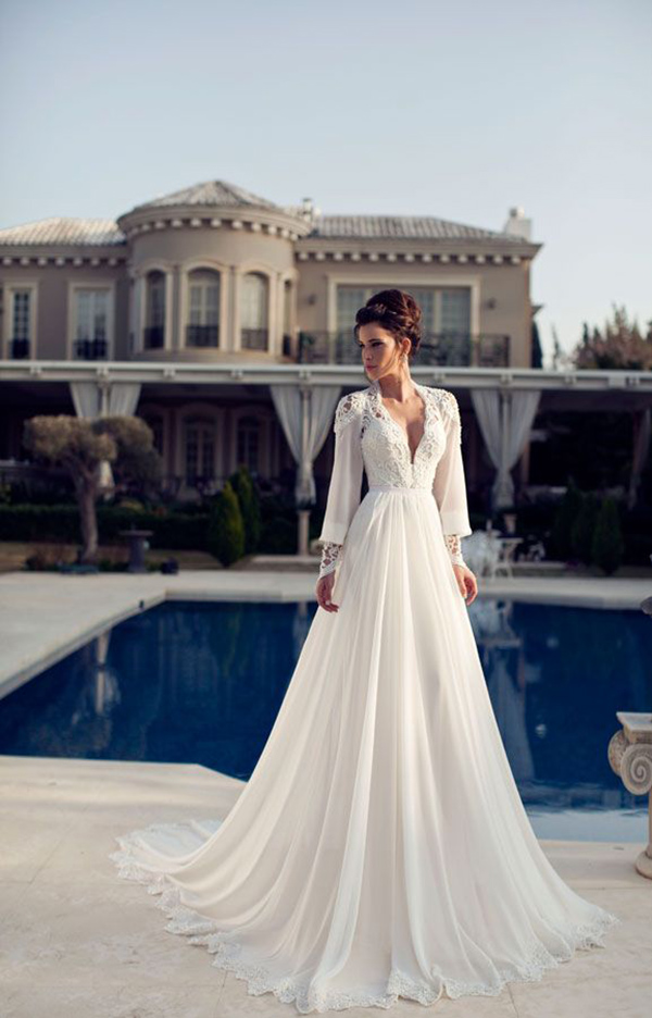 48961086f98 Long Sleeve Wedding Dresses  Perfect 20 Gowns for Fall and Winter ...