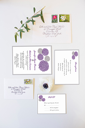 affordable lavender and gray wedding invitation cards ewi348