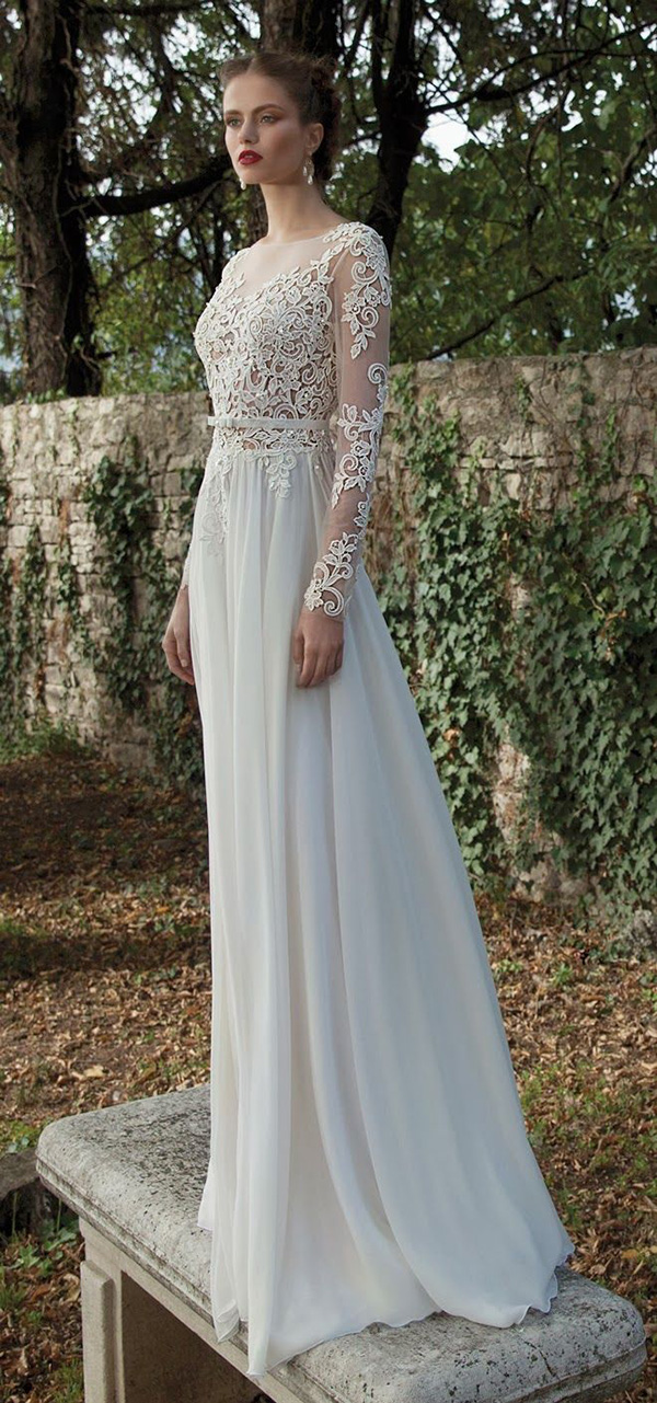 Berta Bridal Long Sleeves Wedding Dresses For Fall And Winter