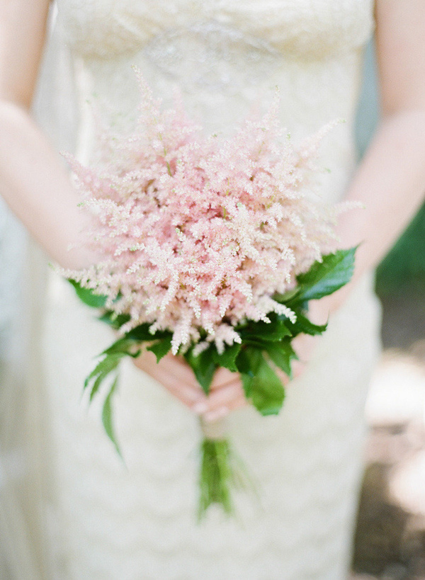 blush pink astilbe wedding bouquets 2015 trends