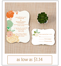 boho themed country wedding invitations with free rsvp cards