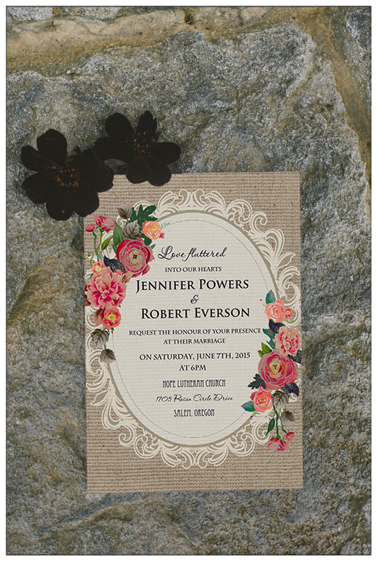 Top 10 Chic Country Rustic Wedding Invitations with RSVP Cards