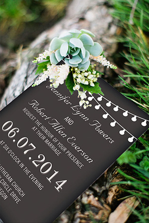 chic rustic chalkboard wedding invitations for backyard wedding ideas