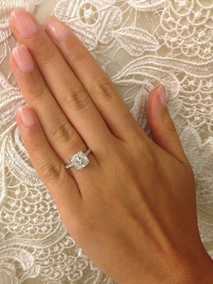 classic princess cut diamond wedding engagement rings