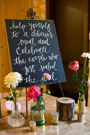 Rustic Vintage Chalkboard Wedding Signs Country Themed Sign Ideas For Reception