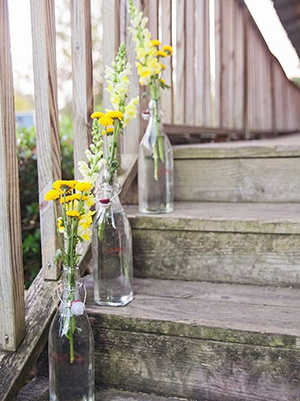 country rustic wedding staircase decoration ideas