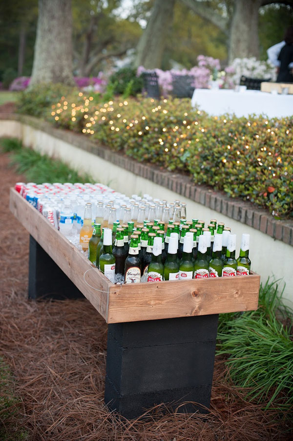 Diy Outdoor Table Drink Cooler For Rustic Wedding Ideas