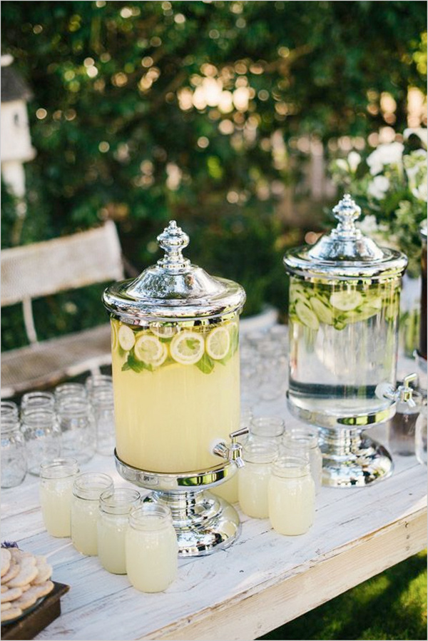 drink table ideas for rustic outdoor wedding ideas