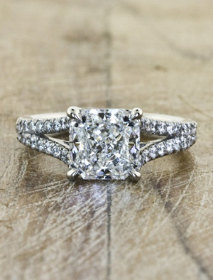fancy princess cut diamond wedding engagement rings