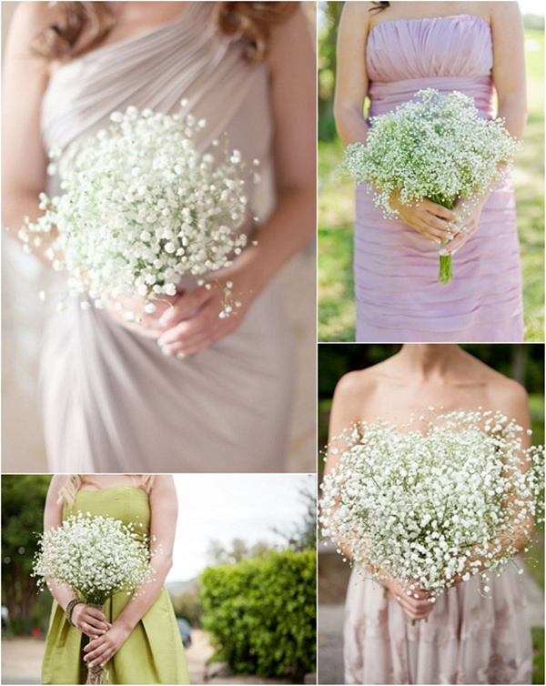 gypsophila baby's breath wedding bouquet ideas