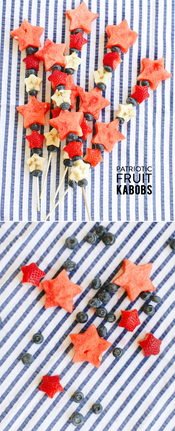 patriotic fruit kabobs for 4th of july themed wedding ideas