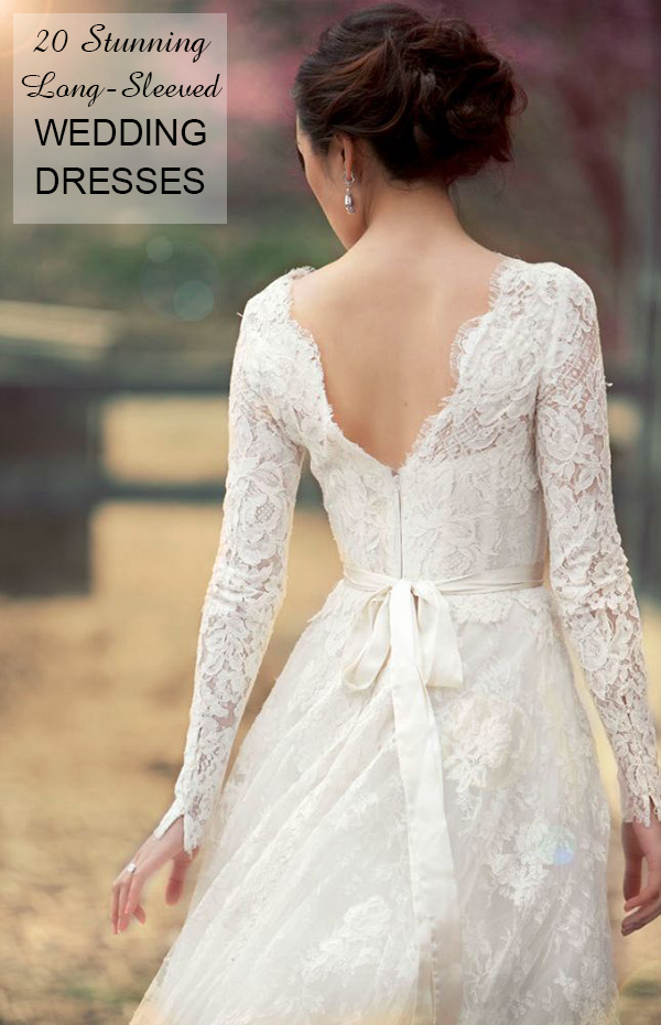 perfect 20 stunning long sleeve wedding