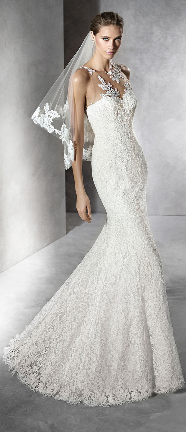 Pronovias wedding dresses mermaid lace