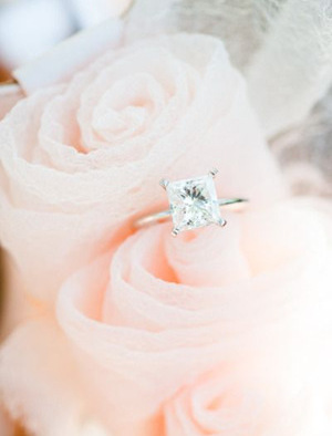 simple and elegant princess cut wedding engagement rings
