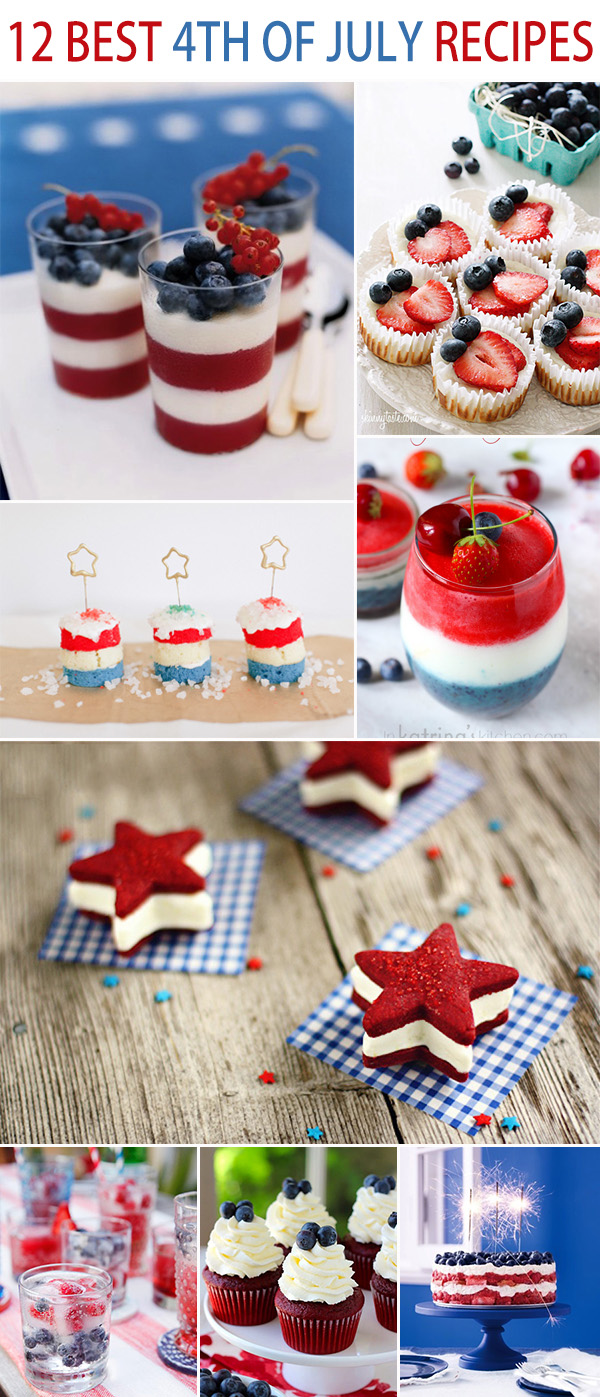 top 12 best 4th of july recipes for weddings or parties
