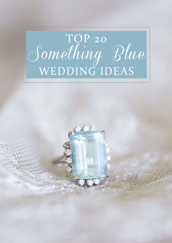 top 20 amazing something blue wedding color ideas