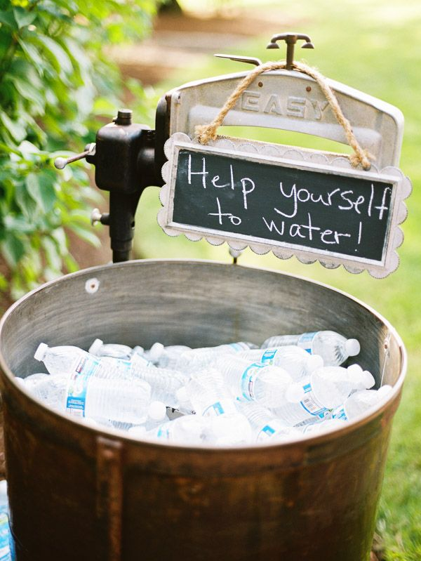 water serve ideas for summer outdoor wedding ideas