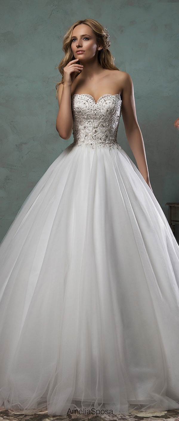 amelia sposa ball gown wedding dresses with touch of sparkle giselle