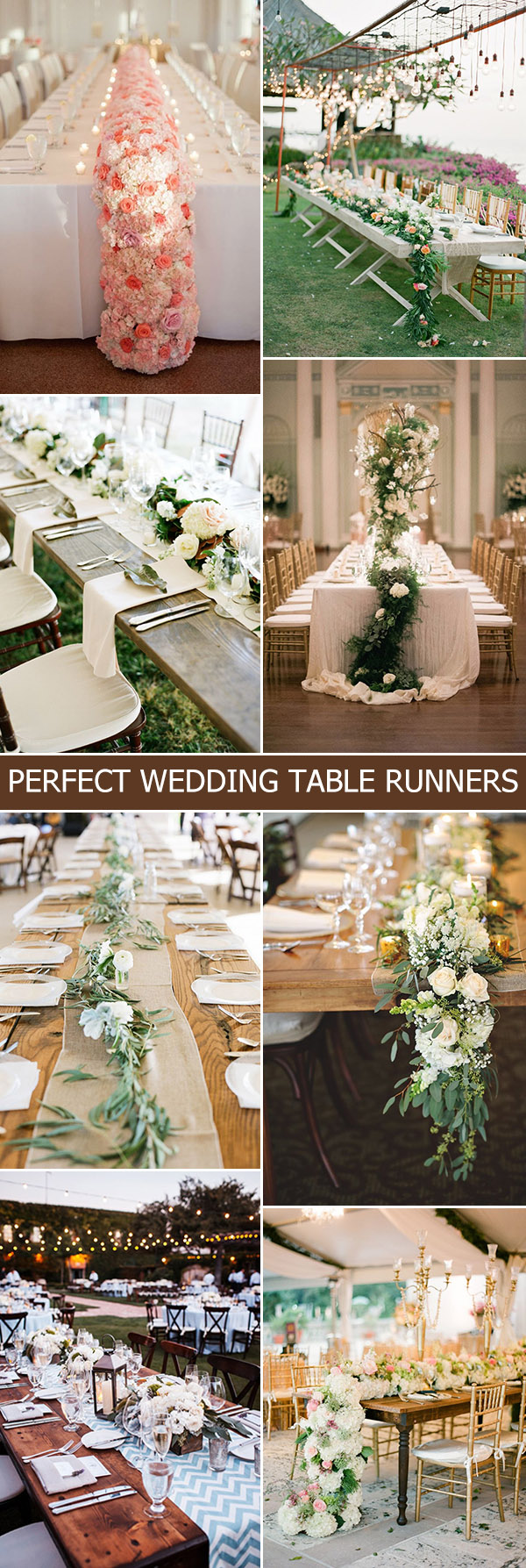 beautiful wedding table runners decoration ideas 2015 2016 trends
