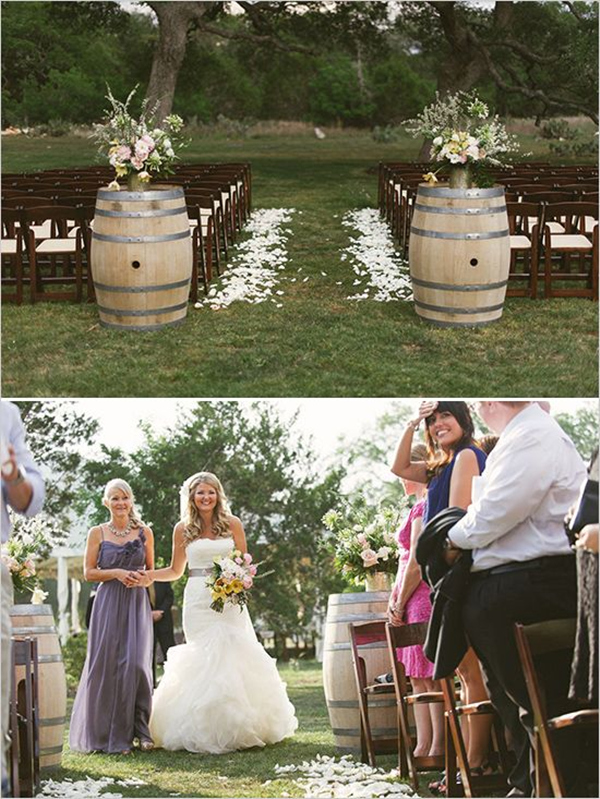 outside wedding decoration ideas for ceremony country wedding ideas 20 ways to use wine barrels 6339