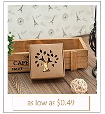 country rustic laser cut wedding favor boxes
