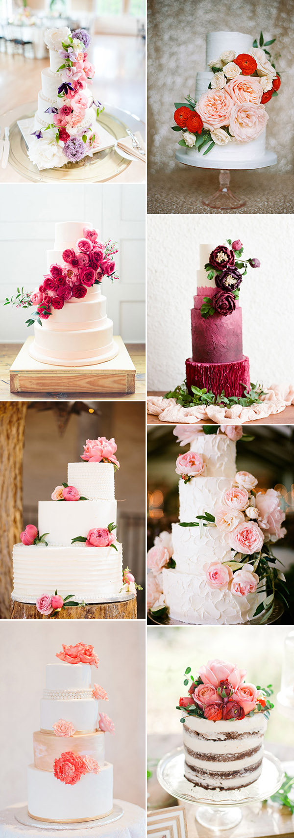 fabulous wedding cakes with floral decorated on for wedding ideas 2015 2016