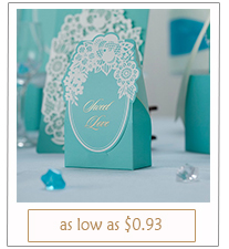laser cut tiffany colored wedding favor boxes
