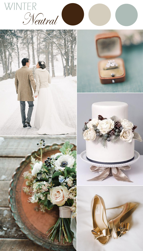 neutral colors inspired winter wedding ideas 2015 trends
