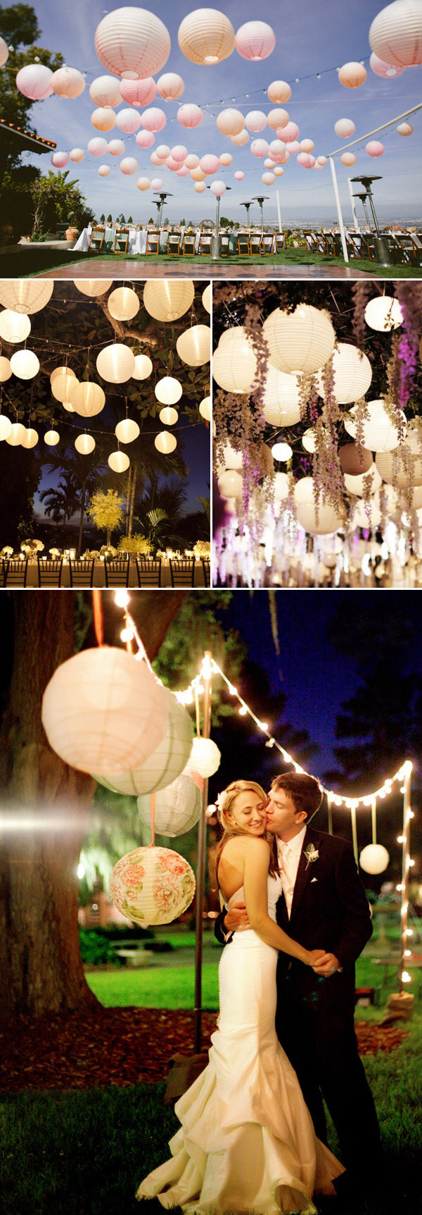 Outdoor Wedding Ideas 20 Amazing Ways To Use Floating Lanterns Elegantweddinginvites Com Blog