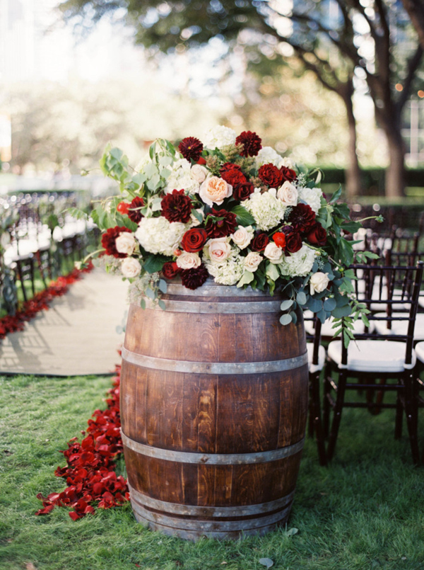 Image result for wine barrel wedding decor