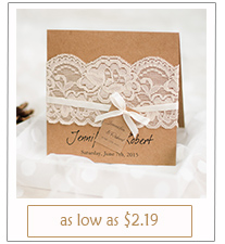 rustic themed lace wedding invitations with free rsvp cards