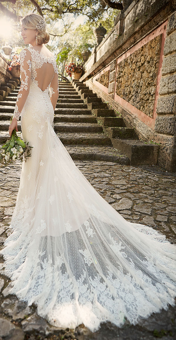 Sophisticated Lace Wedding With Illusion Long Sleeves And Keyhole Back From Essense Of Australia For