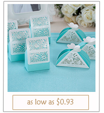 tiffany themed laser cut wedding favor boxes