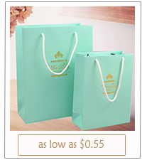tiffany themed wedding favor bags