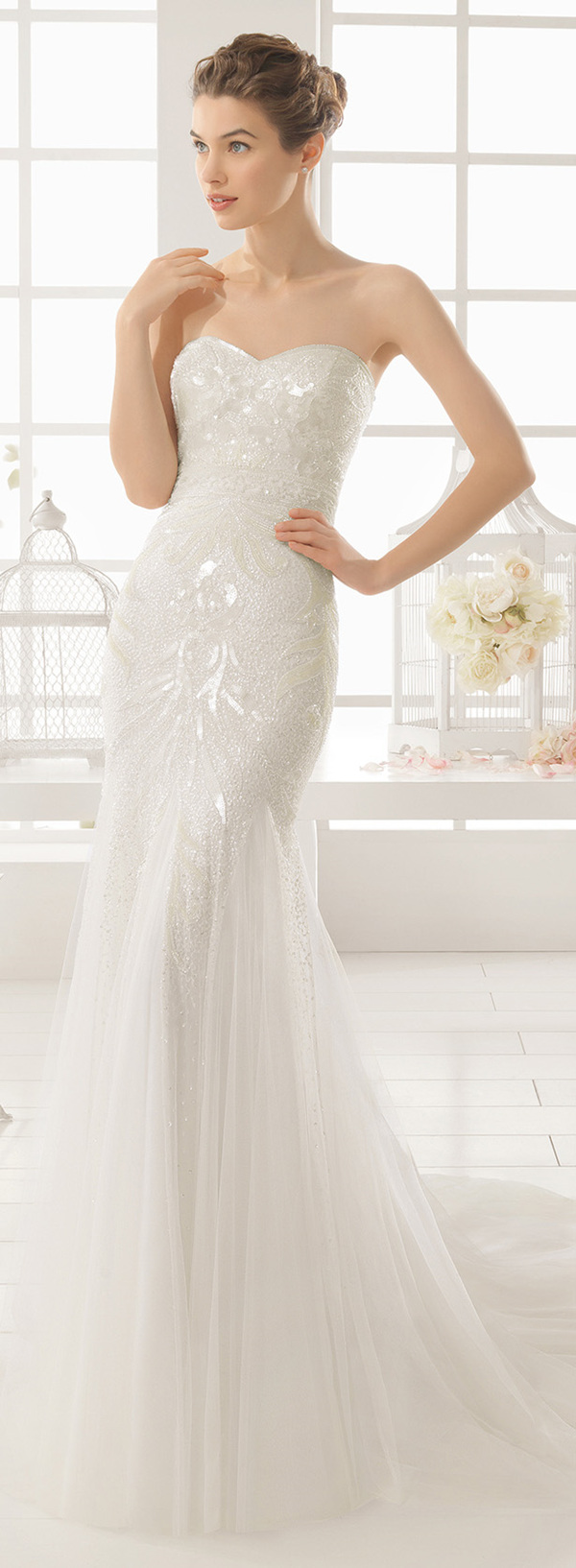 Aire Barcelona bling sequins mermaid wedding dresses 2016