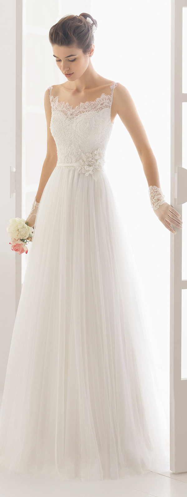 Aire barcelona wedding dresses 2016 collection for Wedding dresses for tall skinny brides