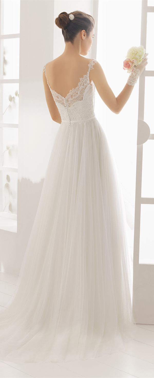 Aire Barcelona lace wedding dresses 2016 detailed open back