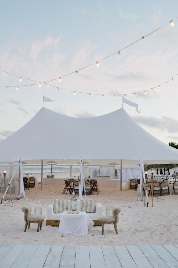 all white tent wedding receptions for beach wedding ideas