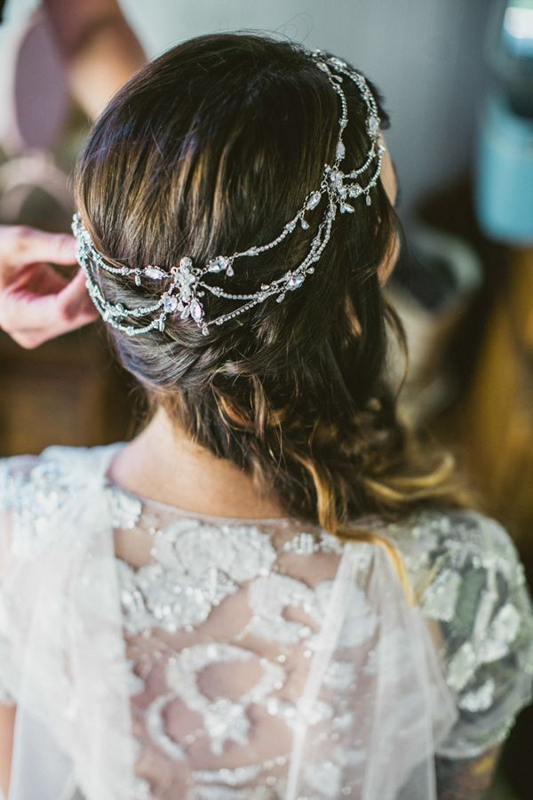bohemian themed wedding hair accessory headband