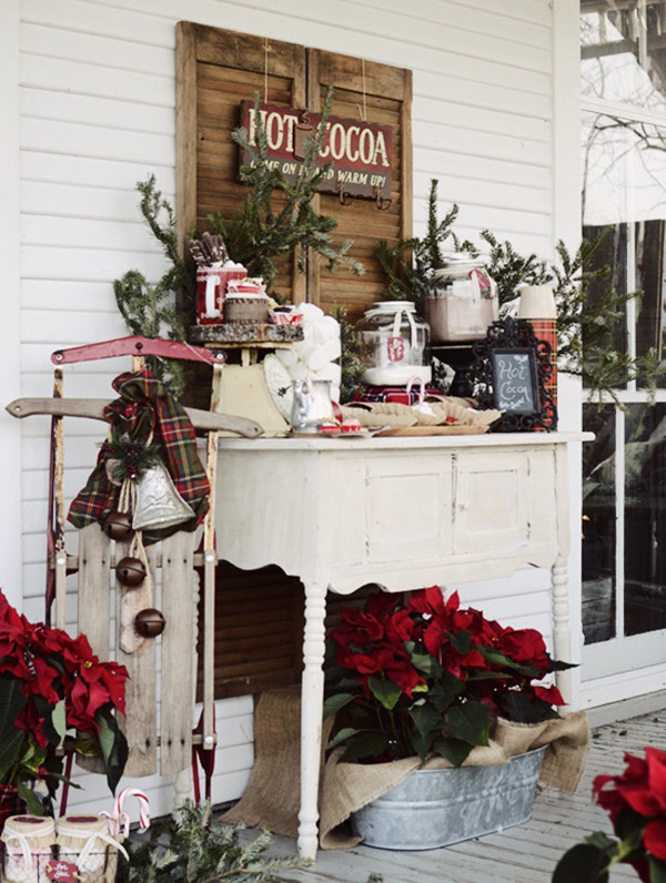 christmas hot cocoa bar for 2015 winter wedding ideas