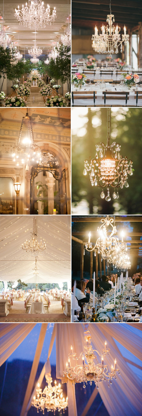 classic romantic crystal wedding chandeliers decoration ideas