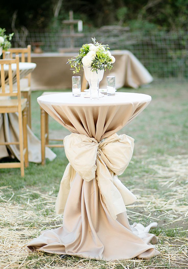 18 stunning wedding reception decoration ideas to steal country style outdoor wedding receptions with big bows junglespirit Images