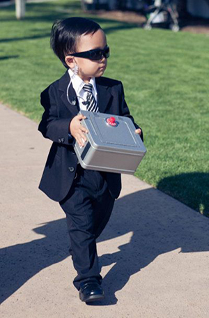 cute secret service ring bearer wedding ideas