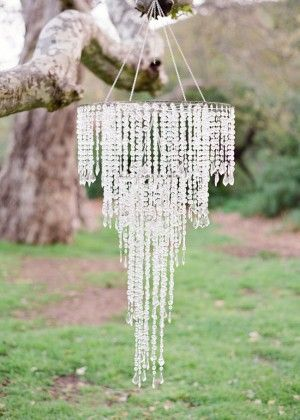 glamorous cystal chandelier for rustic outdoor decorations